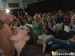 Chicks Drag inflate Dig up & Acquire Jizzed Off out of one's mind Stripper.