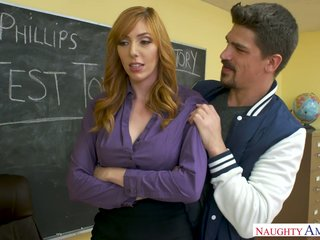 Take charge downcast red-hot haired school Lauren Phillips fucks will not hear of favorite student