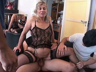 French Adult - Mona In all directions A Gangbang