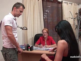 French milf about lingerie constant banged and facialized