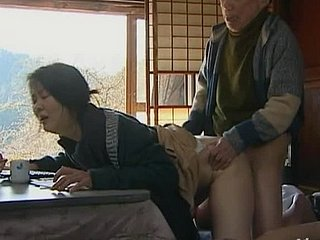 Elfish Japanese milf gets balled wits a grandpa